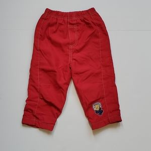 Disney Winnie the Pooh Red Lined Pants 12-18M